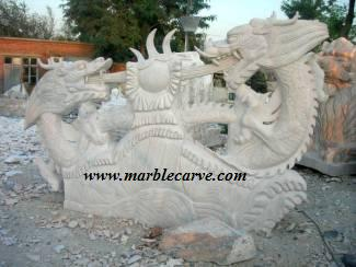 marble dragon Carving