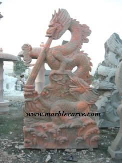 marble dragon statue