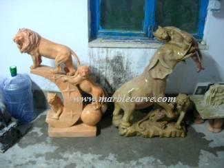 marble lion Carving