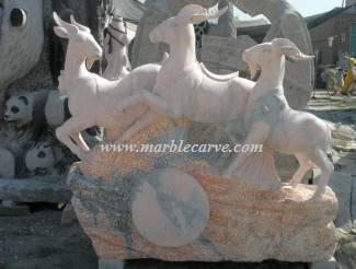 marble goats statue