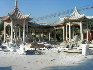 marble gazebo Carving